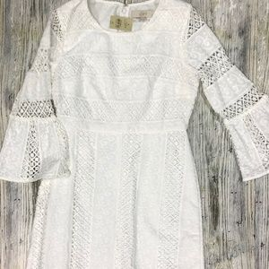 Loft White Lace Dress Boho